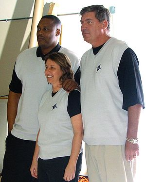 Detroit Shock coaching staff (left to right): ...