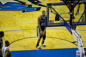 Tim Duncan seen by many as the greatest Power Forward of all time, is living proof of flexibility within the role as he now all to often plays at Center (Photo Source: Mike)