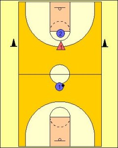 Lead and Catch Passing Drill Diagram 3