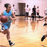 The Dribbling Pocket is very important during the initial stages of teaching a player how to dribble a basketball. The dribbling pocket allows a player to walk, run and sprint while dribbling the basketball without fear of kicking the ball (Photo Source: squdgee)